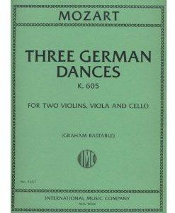 Mozart, W.A. -Three German Dances - K.605 - String Quartet - Graham Bastable by International